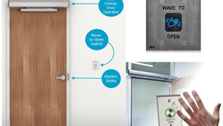 Touchless commercial door entry systems